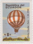 Sellos de America - Ecuador -  Primer Vuelo del Hombre