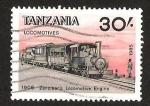 Sellos de Africa - Tanzania -  LOCOMOTIVES - ZANZIBERS LOCOMOTIVE ENGINE