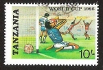 Stamps Tanzania -  WORLD CUP 1986