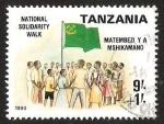 Stamps Tanzania -  NATIONAL SOLIDARITY WALK