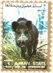 Stamps : Asia : United_Arab_Emirates :  AJMAN - Jabalí