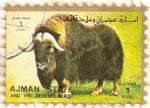 Stamps : Asia : United_Arab_Emirates :  AJMAN - Búfalo africano