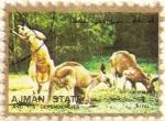 Stamps : Asia : United_Arab_Emirates :  AJMAN - Canguro