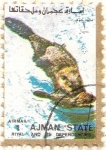 Sellos de Asia - Emiratos Árabes Unidos -  AJMAN - Castor