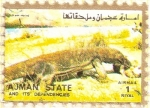 Stamps United Arab Emirates -  AJMAN - Dragón de Comodo