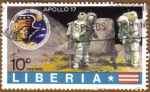 Stamps Africa - Liberia -  Astronauta, Luna y Apollo