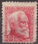 Stamps Spain -  España 1935 686 Sello º Personajes Gumersindo de Azcarate 30c Republica Española