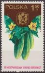 Sellos de Europa - Polonia -  Polonia 1974 Scott 2052 Sello ** Congreso Horticola Varsovia Frutas Pepinos