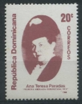 Stamps America - Dominican Republic -  Scott 1048 - Ana Teresa Paradas