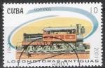 Sellos de America - Cuba -  Cuba 2001 Scott 4131 Sello * Trenes Antiguos Trains Antiques de 1863 Timbre 10c