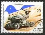 Sellos de America - Cuba -  Cuba 1982 Scott 2504 Sello * Vehiculo Espacial Spacecraft Lunokhod Uso Pacifico del Espacio Ultrater