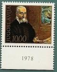 Sellos de Europa - Yugoslavia -  Retrato de  Julija Klovica (miniaturista)  por el Greco
