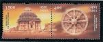 Sellos de Asia - India -  El Templo del Sol en Konarak