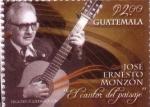"""Stamps : America : Guatemala :  José Ernesto Monzón """"El cantor del paisaje"""""""