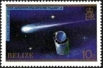 Sellos del Mundo : America : Belice : Belize 1986 Scott 812 Sello ** Paso del Cometa Halley Planet A Probe 10c