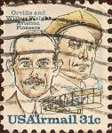 Stamps United States -  Orville y Wilburt Wright, pioneros de la aviación.