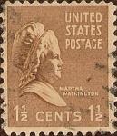 Stamps United States -  Serie Presidencial: Martha Washington