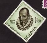 Stamps Bolivia -  Miguel de Cervantes