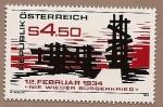 Sellos de Europa - Austria -  Nunca más la guerra civil