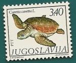Stamps Yugoslavia -  Tortuga boba