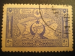 Stamps Asia - Turkey -  Imperio Otomano: mapa