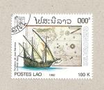 Stamps Laos -  La Pinta