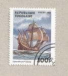 Stamps Togo -  Caravela siglo XV