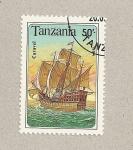 Stamps Tanzania -  Caravela
