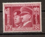 Stamps : Europe : Germany :  hitler y mussolini