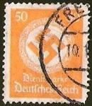 Stamps Germany -  DEUTSCHES REICH - DIENFMARKE - CRUZ EVASTICA Y CORONA