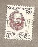 Stamps Czechoslovakia -  Karl Marx