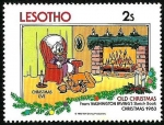 Stamps Africa - Lesotho -  Lesotho 1983 Scott 413 Sello ** Walt Disney Libro dibujos Washington Irving Christmas Eve 2s