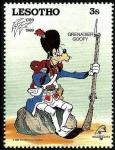 Stamps Africa - Lesotho -  Lesotho 1989 Scott 712 Sello ** Walt Disney Bicentenario de la Revolucion Francesa Goofy Granadero 3