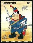 Stamps Africa - Lesotho -  Lesotho 1989 Scott 714 Sello ** Walt Disney Bicentenario de la Revolucion Francesa Pete Hussar 5s
