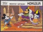 Stamps Asia - Mongolia -  Mongolia 1987 Scott 1629 Sello ** Walt Disney Mickey, Minnie y el Rey El Sastrecillo Valiente 35m