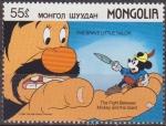Stamps Mongolia -  Mongolia 1987 Scott 1631 Sello ** Walt Disney Mickey y el Gigante El Sastrecillo Valiente 55m