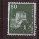 Stamps Germany -  serie- industria y tecnologia