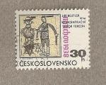 Sellos de Europa - Checoslovaquia -  Campo concentración Tabor Terezin