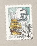 Stamps Hungary -  Robert Scott, explorador