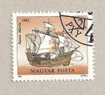 Sellos de Europa - Hungría -  Caravela Santa María en 1492