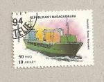 Stamps Madagascar -  Barco polivalente australiano