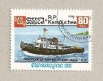 Stamps Cambodia -  Remolcador