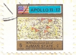 Stamps United Arab Emirates -  AJMAN - Apollo 11/17