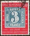 Sellos del Mundo : Europa : Alemania :  DEUTSCHE POST - 100 JAHRE DEUTSCHE BRIEFMARKEN