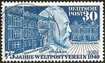Sellos del Mundo : Europa : Alemania :  DEUTSCHE POST - 75 JAHRE WELTPOSTVEREIN