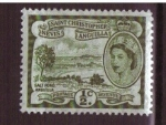 Stamps America - Saint Kitts and Nevis -  salt pond