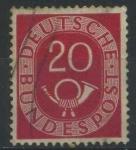 Sellos del Mundo : Europa : Alemania : Scott 677 - Corneta Postal