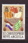 Stamps America - Saint Kitts and Nevis -  banderas