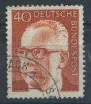 Sellos del Mundo : Europa : Alemania : Scott 1032 - Presidente Gustav Heinemann
