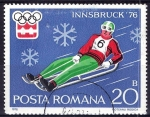 Stamps Romania -  Olimpiada de Invierno. INNSBRUCK-76. Trineo.